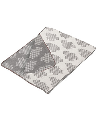 Fabulous Goose Cloud Baby Blanket - Grey, White reversible 100% Brushed Cotton (fleece effect: soft and warm) 75 x 100 cm Blankets
