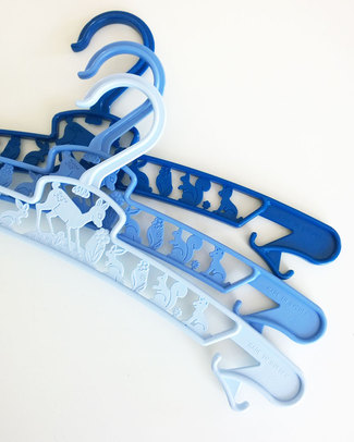 Fabulous Goose Pack of 3 Junior Hangers - Blue - Eco Plastic! Hangers & Hooks