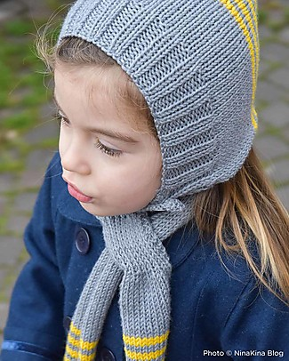 Family Nation + BettaKnit Hat and Scarf Knitting Kit Pixie Yellow – 100% Extrafine Merino Wool Hats