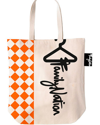 Family Nation Terracotta Tote Bag - Ethically Made & 100% Cotton (Limited Edition!) Tote Bags