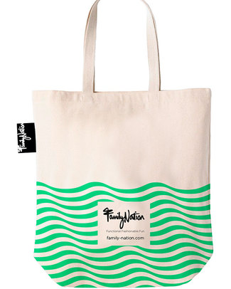 Family Nation Tote Bag - Ethically Made & 100% Cotton - Ocean Tote Bags
