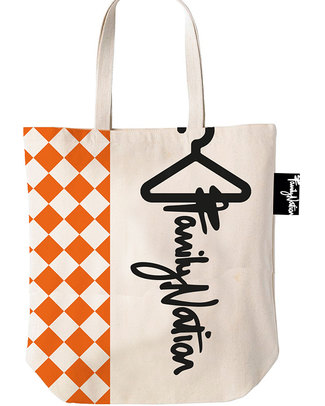 Family Nation Tote Bag - Ethically Made & 100% Cotton - Terracotta Tote Bags