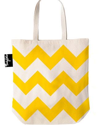Family Nation Tote Bag - Ethically Made & 100% Cotton - Zingy Chevron Tote Bags