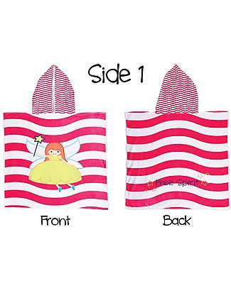 FlapJackKids 2-in-1 Baby Cover Up, Fairy+ Unicorn - 61 x 61 cm Towels And Flannels