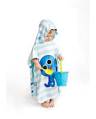 FlapJackKids 2-in-1 Baby Cover Up, Whale+Blue Octopus - 61 x 61 cm Towels And Flannels