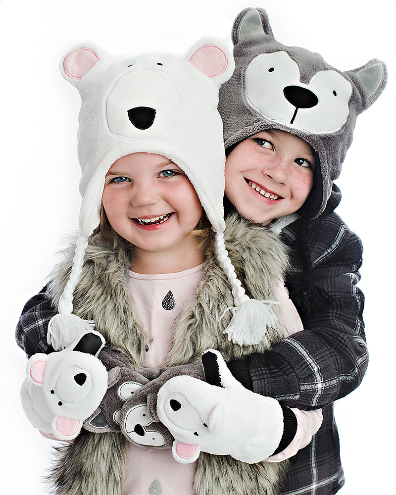 FlapJackKids 2-in-1 Reversible Winter Hat Anti-UV UPF 50+ add7a45f3463