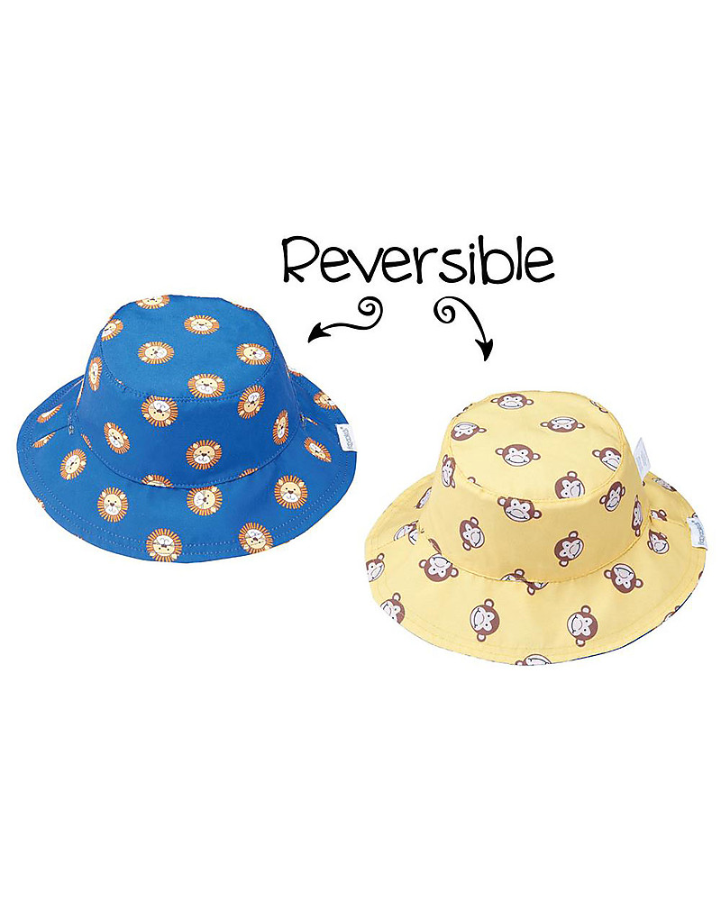 9fbb74251 FlapJackKids Baby Reversible Summer Hat Anti-UV UPF 50+, Pattern ...