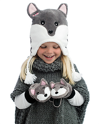 FlapJackKids Fleece Puppet Mittens Arctic Fox, 2-6 years Gloves e Mittens