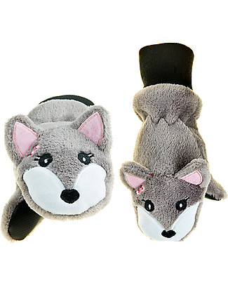 FlapJackKids Fleece Puppet Mittens Arctic Fox, 2-6 years Winter Hats
