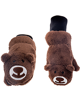 FlapJackKids Fleece Puppet Mittens Bear, 2-6 years Winter Hats