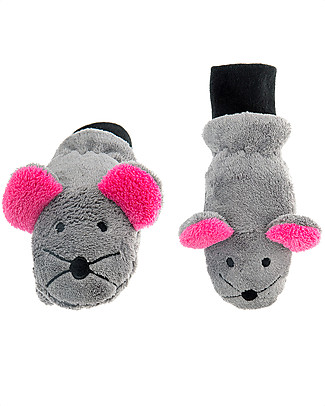 FlapJackKids Fleece Puppet Mittens Funny Mouse, 2-6 years Gloves e Mittens