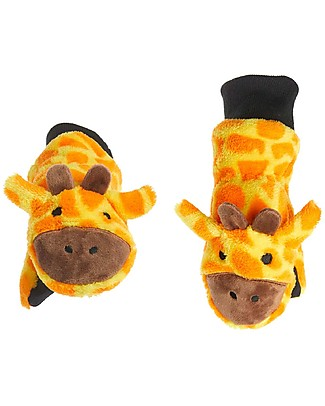 FlapJackKids Fleece Puppet Mittens Giraffe, 2-6 years Gloves e Mittens