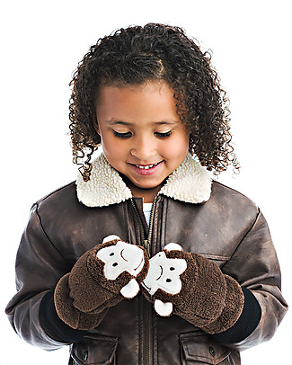 FlapJackKids Fleece Puppet Mittens Monkey, 2-6 years Gloves e Mittens