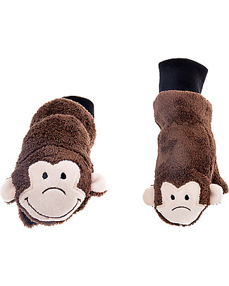 FlapJackKids Fleece Puppet Mittens Monkey, 2-6 years Winter Hats