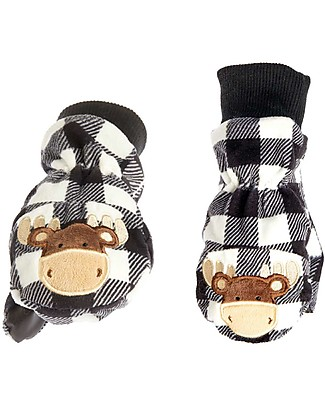 FlapJackKids Fleece Puppet Mittens - Moose, 2-6 years Gloves e Mittens
