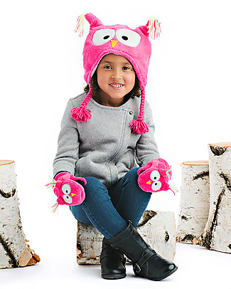 FlapJackKids Fleece Puppet Mittens Owl, 2-6 years Gloves e Mittens