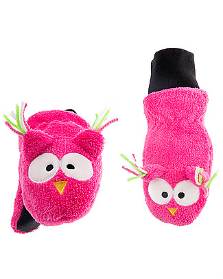 FlapJackKids Fleece Puppet Mittens Owl, 2-6 years Winter Hats