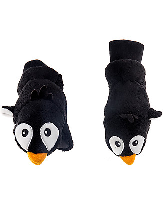FlapJackKids Fleece Puppet Mittens Penguin, 2-6 years Gloves e Mittens