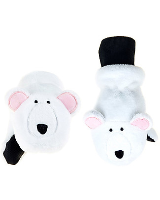 FlapJackKids Fleece Puppet Mittens - Polar Bear, 2-6 years Gloves e Mittens
