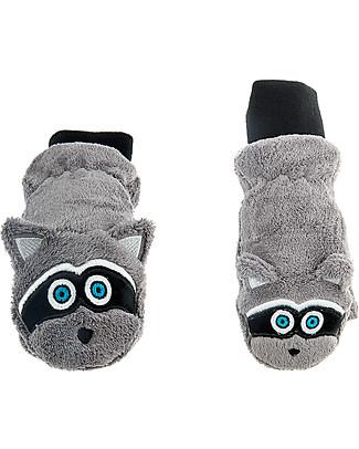 FlapJackKids Fleece Puppet Mittens Raccoon, 2-6 years null