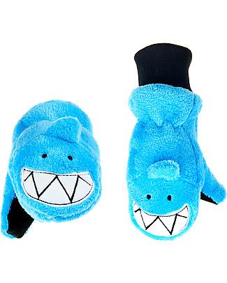 FlapJackKids Fleece Puppet Mittens Shark, 2-6 years null