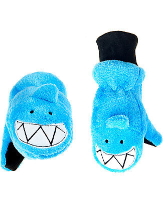 FlapJackKids Fleece Puppet Mittens Shark, 2-6 years Winter Hats