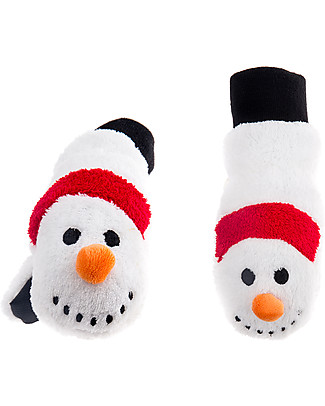 FlapJackKids Fleece Puppet Mittens Snow Man, 2-6 years Gloves e Mittens