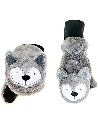 FlapJackKids Fleece Puppet Mittens Wolf, 2-6 years null