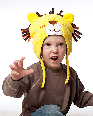 FlapJackKids Reversable Fleece Winter Hat - Lion/Monkey - SPF 50+ Winter Hats