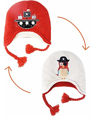 FlapJackKids Reversable Fleece Winter Hat - Pirate/Parrot - SPF 50+ Winter Hats