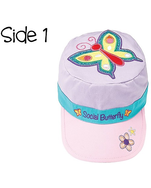 Embroidery Girls Flapjackkids Reversible Baby Kids Sun Hats 100/% Cotton UPF 50