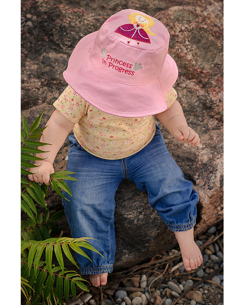 504031f42 FlapJackKids Reversible Summer Hat Anti-UV UPF 50+, Princess+Sweet ...