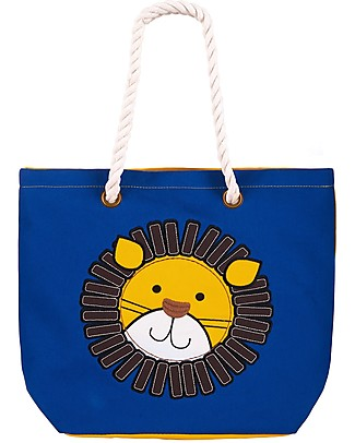 FlapJackKids Reversible Tote with Rope Handles, Lion+Monkey - Cotton canvas Lunch Boxes