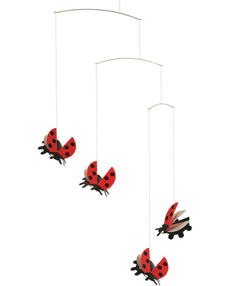 Flensted Ladybirds Mobile (moves on its own!) Mobiles