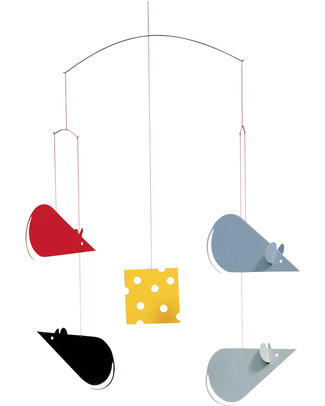 Flensted Mice & Cheese Mobile (moves on its own!) Mobiles