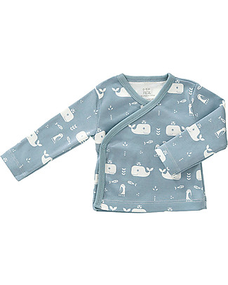 Fresk Baby Cardigan, Blue Whale – Organic Cotton Cardigans