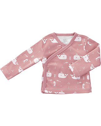 Fresk Baby Cardigan, Pink Whale – Organic Cotton Cardigans