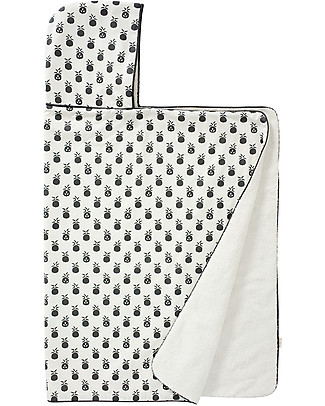 Fresk Hooded Towel, Pineapple Anthracite, 100x75 cm - Organic cotton Towels And Flannels