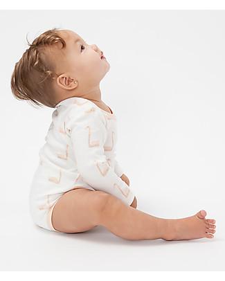 Fresk Long Sleeved Bodysuit Swan, Peach- 100% organic cotton Short Sleeves Bodies