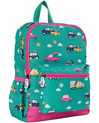 Frugi Adventures Backpack, Aqua Rainbow Roads- 100% recycled material! Small Backpacks