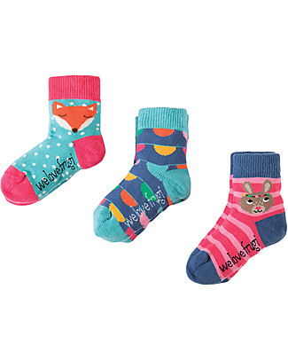 Frugi Baby Little Socks 3 Pack, Bunny - Organic Cotton Socks