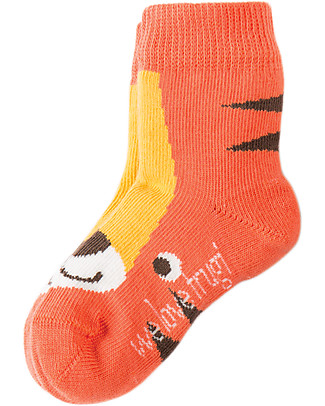 Frugi Baby Little Socks 3 Pack, Little Tigers - Organic Cotton Socks