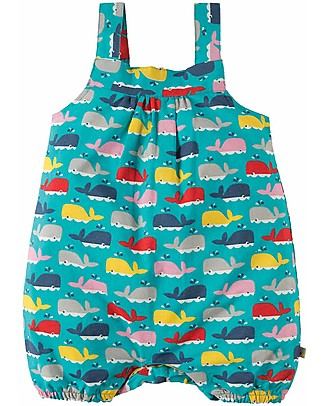 Frugi Beau Beach Dungaree, A Whale Of A Time - Jersey Organic Cotton Dungarees