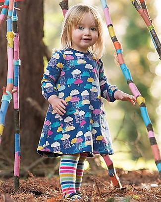 Frugi Becky Brushback Dress, Bright Scandi Skies - Organic Cotton Dresses