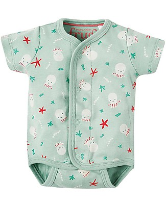 Frugi Bryn Printed Body, Squishy Squids - 100% Organic cotton Long Sleeves Bodies
