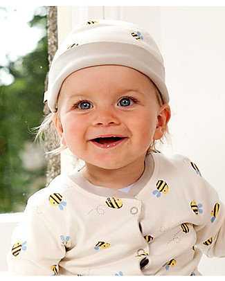 Frugi Buzzy Bee Hat, Natural - 100% organic cotton Hats