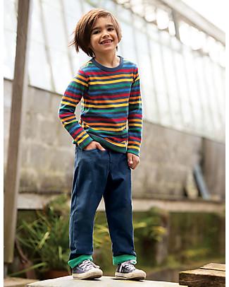 Frugi Callum Slim Cords, Space Blue Trousers