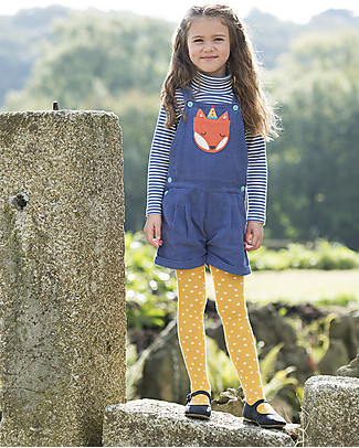 Frugi Cerys Cord Dungarees, Blue Lake/Fox - 100% organic cotton Dungarees