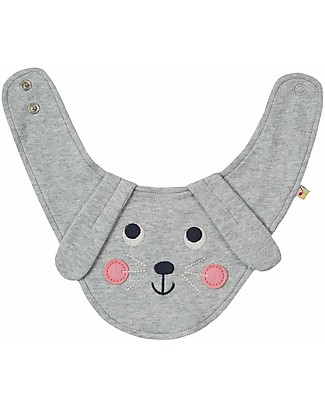 Frugi Cheeky Chops Bib, Rabbit - Organic cotton Bandana Bibs