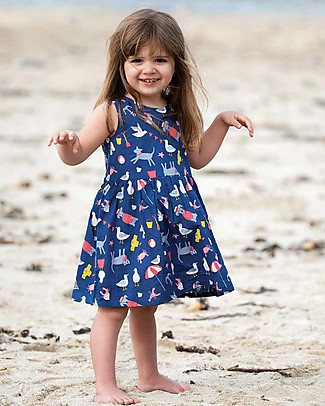 Frugi Clara Cambric Dress, Buckets and Spades - Organic Cotton Special Occasion